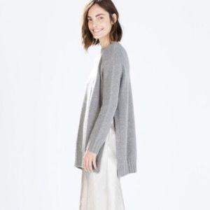 ZARA Grey Cozy Side Slit Tunic Sweater
